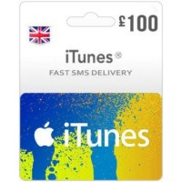 GBP100 ITunes Gift Card – UK-Instant Email Delivery