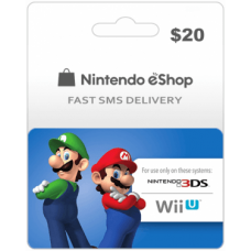 $20 Nintendo EShop Prepaid Card (US)-Instant Email Delivery