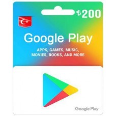 TL200 Google Play Gift Card – TR-Instant Email Delivery