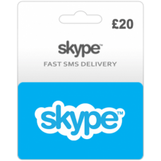 $20 Skype Credit (Uk)-Instant Email Delivery
