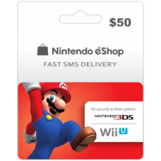 $50 Nintendo EShop Prepaid Card (US)-Instant Email Delivery