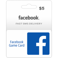 $5 Facebook Game Card (Global)-Instant Email Delivery