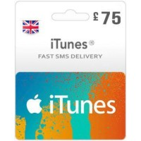 GBP75 ITunes Gift Card – UK-Instant Email Delivery