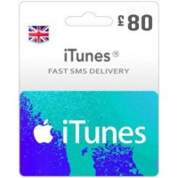 GBP80 ITunes Gift Card – UK-Instant Email Delivery