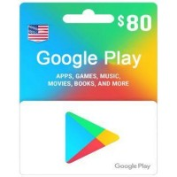 $80 Google Play Gift Card (US)-Email Instant Delivery