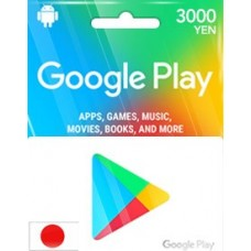 3,000YEN GOOGLE PLAY GIFT CARD (JP)-Instant Email Delivery