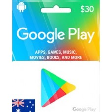 AUD30 GOOGLE PLAY GIFT CARD (AU)-Instant Email Delivery