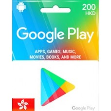 HKD200 GOOGLE PLAY GIFT CARD (HK)-Instant Email Delivery