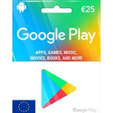 EUR25 GOOGLE PLAY GIFT CARD (EU)-Instant Email Delivery