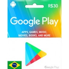 R$30 GOOGLE PLAY GIFT CARD (BR)-Instant Email Delivery