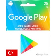 TL25 GOOGLE PLAY GIFT CARD (TR)-Instant Email Delivery
