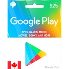 CAD25 GOOGLE PLAY GIFT CARD (CA)-Instant Email Delivery