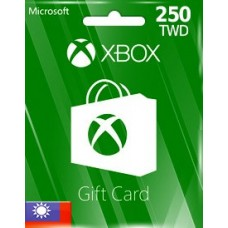 TWD250 XBOX LIVE GIFT CARD (TW)-Instant Email Delivery