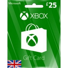 GBP25 XBOX LIVE GIFT CARD (UK)-Instant Email Delivery