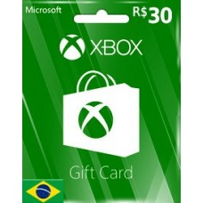 BRL30 XBOX LIVE GIFT CARD (BR)-Instant Email Delivery