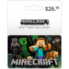$26.95 Minecraft Game Card (Global)-Instant Email Delivery