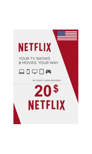 NETFLIX $20 GIFT CARD (US)-Instant Email Delivery