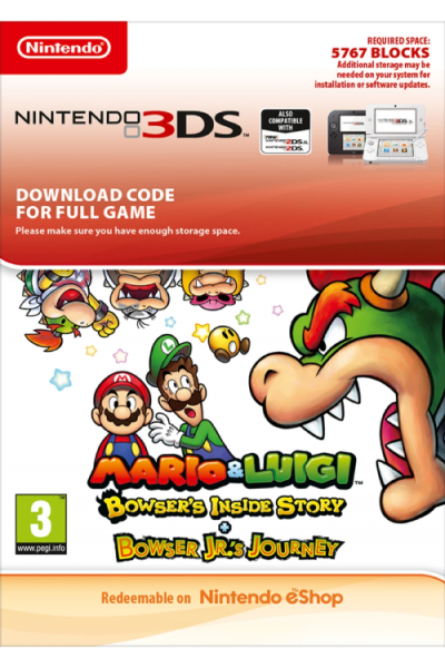 Mario And Luigi Bowsers Inside Story And Bowser Jrs Journey 3ds Pc Code