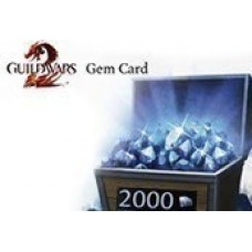 GUILD WARS 2 2000 GEMS CODE- PC Code